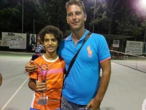 Luca Potenza con l'ex maestro Francesco Pedani