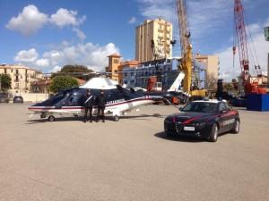 Elicottero Carabinieri e Alfa 159