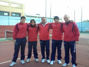 I 5 tennisti del Tc Sant'Angelo