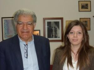 Il preside Santino Lo Presti con Isabella Lucchesi