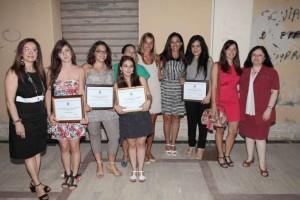 Le ragazze premiate